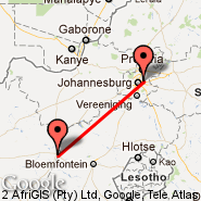 Johannesburg (Oliver Reginald Tambo International, JNB) - Kimberley (KIM)