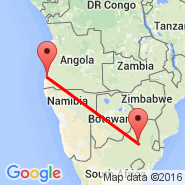 Johannesburg (Oliver Reginald Tambo International, JNB) - Namibe (MSZ)