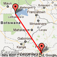 Johannesburg (Oliver Reginald Tambo International, JNB) - Orapa (ORP)