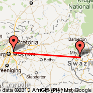 Johannesburg (Oliver Reginald Tambo International, JNB) - Mbabane (QMN)