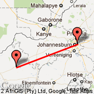 Johannesburg (Oliver Reginald Tambo International, JNB) - Sishen (SIS)