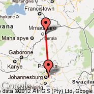 Johannesburg (Oliver Reginald Tambo International, JNB) - Tuli Block (Limpopo Valley, TLD)