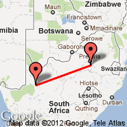 Johannesburg (Oliver Reginald Tambo International, JNB) - Upington (UTN)