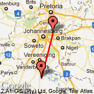 Johannesburg (Oliver Reginald Tambo International, JNB) - Secunda (ZEC)