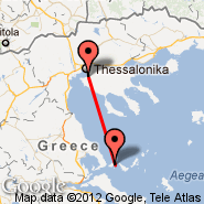 Skiathos Island (Skiathos, JSI) - Thessaloniki (Macedonia International, SKG)