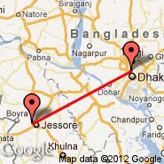 Jessore (JSR) - Dhaka (Zia International, DAC)