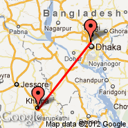 Khulna (KHL) - Dhaka (Zia International, DAC)