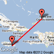 Kingston (Norman Manley, KIN) - Providenciales (International, PLS)