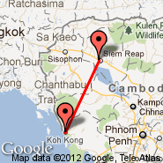 Koh Kong (KKZ) - Siem Reap (Angkor International Airport, REP)