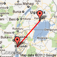 Kampala (KLA) - Bujumbura (International, BJM)