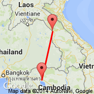 Nakhon Phanom (Nakhon Phanom West, KOP) - Siem Reap (Angkor International Airport, REP)