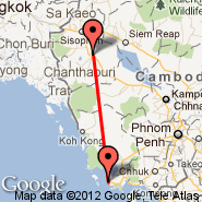 Sihanoukville (Sihanoukville International Airport, KOS) - Battambang (BBM)