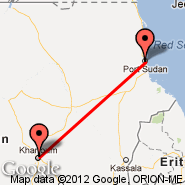 Khartoum (Civil, KRT) - Port Sudan (New International Airport, PZU)