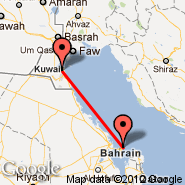 Kuvajt (Kuwait International, KWI) - Bahrein (Bahrain International, BAH)