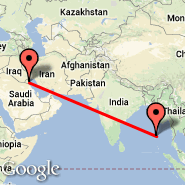 Kuwait City (Kuwait International, KWI) - Port Blair/Andaman Isl. (Port Blair, IXZ)