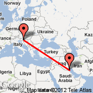 Kuwait City (Kuwait International, KWI) - Zagreb (Pleso, ZAG)
