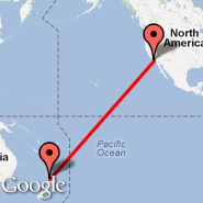 Los Angeles (Los Angeles International, LAX) - Auckland (Auckland International, AKL)