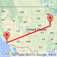 Los Angeles (Los Angeles International, LAX) - Des Moines (Des Moines International, DSM)