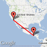 Los Angeles (Los Angeles International, LAX) - Guatemala City (La Aurora, GUA)