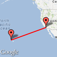 Los Angeles (Los Angeles International, LAX) - Honolulu (Hickam AFB, HIK)