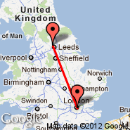 Leeds/Bradford (Leeds Bradford International Airport, LBA) - London (Metropolitan Area, LON)