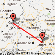 Lahore (Alama Iqbal International, LHE) - Parachinar (Para Chinar, PAJ)