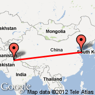 Lahore (Alama Iqbal International, LHE) - Qingdao (Qingdao, TAO)