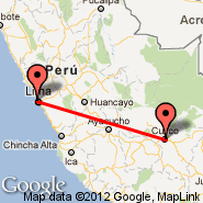 Lima (Jorge Chavez International, LIM) - Cuzco (Velazco Astete, CUZ)