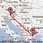 Ljubljana (Brnik, LJU) - Solun (Macedonia International, SKG)