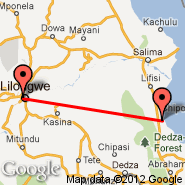 Lilongwe (Kumuzu International Airport, LLW) - Monkey Bay (MYZ)