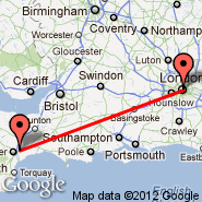 London (Metropolitan Area, LON) - Exeter (Exeter International Airport, EXT)