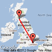 London (Metropolitan Area, LON) - Glasgow (Glasgow International, GLA)