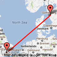 London (Metropolitan Area, LON) - Goteborg (Landvetter, GOT)