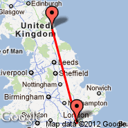 London (Metropolitan Area, LON) - Newcastle (Newcastle Airport, NCL)