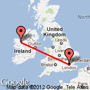London (Metropolitan Area, LON) - Knock (Ireland West Airport Knock, NOC)