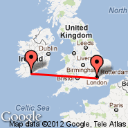 London (Metropolitan Area, LON) - Cork (Cork International Airport, ORK)