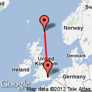 London (Metropolitan Area, LON) - Shetland Islands (Metropolitan Area, SDZ)