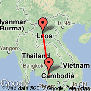 Luang Prabang (Luang Prabang International Airport, LPQ) - Battambang (BBM)
