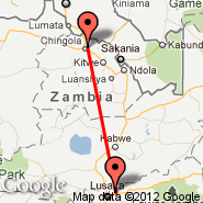 Lusaka (Lusaka International Airport, LUN) - Chingola (CGJ)