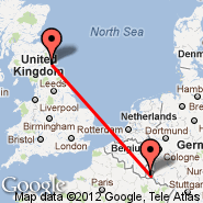 Luxembourg (Findel, LUX) - Newcastle (Newcastle Airport, NCL)