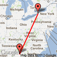 Lawrenceville (Gwinnett County Airport, LZU) - Buffalo (Buffalo Niagara International, BUF)