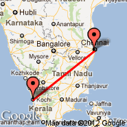 Chennai/Madras (Madras International, MAA) - Kochi (Cochin International, COK)