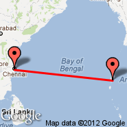 Chennai/Madras (Madras International, MAA) - Port Blair/Andaman Isl. (Port Blair, IXZ)