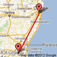 Chennai/Madras (Madras International, MAA) - Neyveli (NVY)