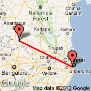 Chennai/Madras (Madras International, MAA) - Puttaparthi (Puttaprathe, PUT)