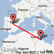 Madrid (Barajas, MAD) - Tripoli (International, TIP)