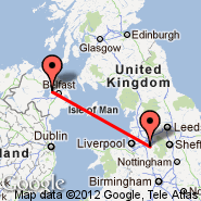 Manchester (Ringway International Airport, MAN) - Belfast (Aldergrove International Airport, BFS)