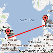 Manchester (Ringway International Airport, MAN) - Billund (BLL)