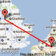 Manchester (Ringway International Airport, MAN) - Bruselj (Brussels Airport, BRU)