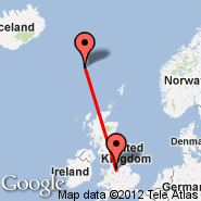 Manchester (Ringway International Airport, MAN) - Faroe Islands (Vagar, FAE)